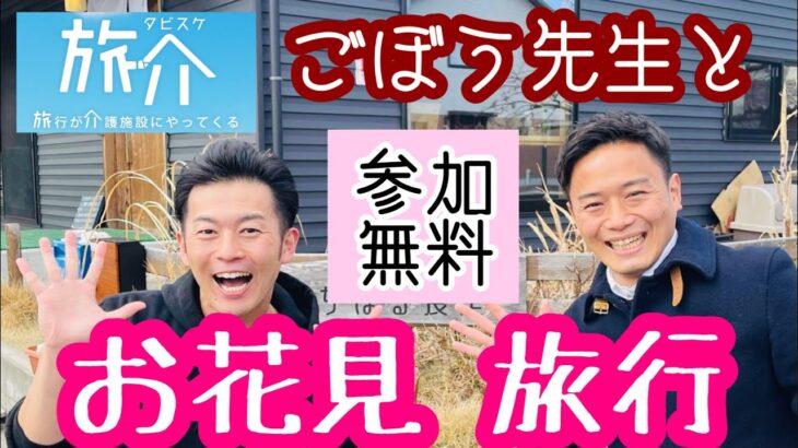 【介護】ごぼう先生と「お花見ツアー」旅介(たびすけ)オンライン旅行で、最新レクリエーションを楽しみましょう!