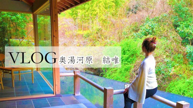 高級国内旅行 vlog 日本【1日1組限定プラン】奥湯河原 結唯 部屋が最高すぎた!部屋食でゆったりプラン!